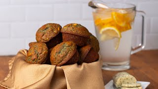 Blue Corn Cornbread Muffins With Herbed Honey Butter • Tasty by Tasty