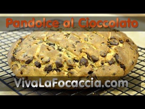 video ricetta: pandolce al cioccolato.