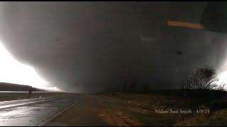 Illinois Tornado April 9, 2015 [Crazy footage - Video by Sam Smith]