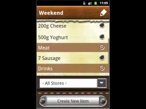 Video of Grocery & Shopping List
