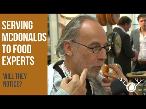 "2 guys pretend to serve pure, organic food to people on a food convention. They realy just serve them McDonalds. The reaction of the ""experts"" is priceless."