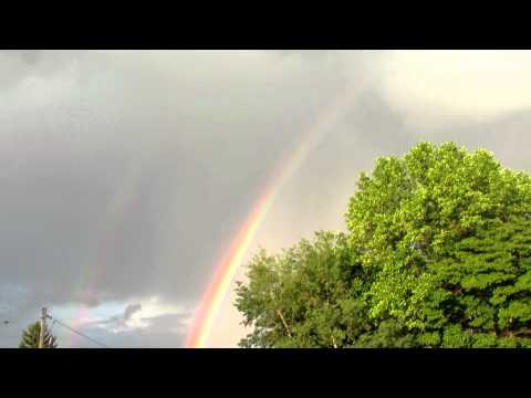 Double rainbow over Ebensburg PA  6-7-12 after rainstorm!!!!