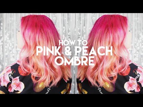 Pastel Peach & Pink Hair
