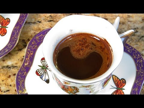 turkish tv - Chef Amy Riolo demonstrates how to make coffee with cardamom.