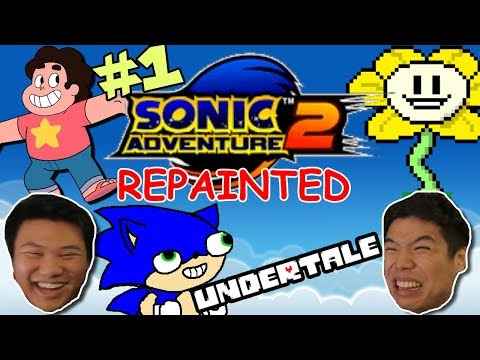 IS THIS UNDERTALE!? || Sonic Adventures 2 REPAINTED || PART 1 (видео)