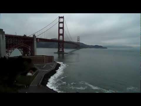 A Golden Gate híd és az Alcatraz-sziget San Francisco-ban
