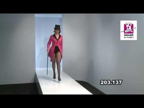 Déguisement queue de pie pink (rose) noire femme deluxe