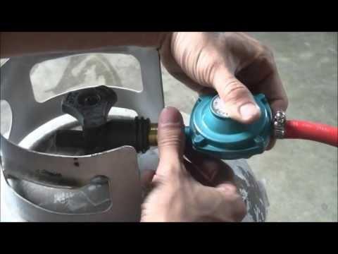 SINGLE PORTABLE SUPER GAS STOVE LARGE PROPANE BRASS BURNER BBQ W/ LPG REGULATOR/ DEMO TEST