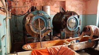Tak wygląda szpitalna pralnia w Ukrainie.