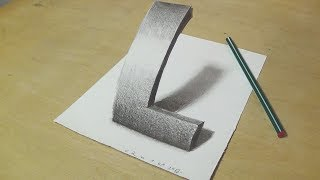 Download Lagu How to Draw Letter L - Drawing 3D Letter L with Pencil - Very Easy for Kids & Adults - VamosART Mp3