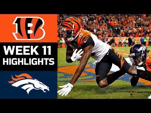 Video: Bengals vs. Broncos | NFL Week 11 Game Highlights