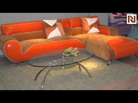 B 317 - Ultra Modern Leather/Microfiber Sectional Sofa VGBNB317 from VIG Furniture