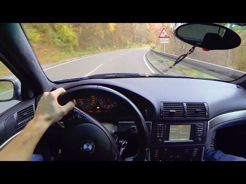 Mercedes E63 AMG on the Autobahn