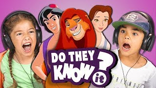 Video DO KIDS KNOW 90s DISNEY SONGS? (REACT: Do They Know It?) MP3, 3GP, MP4, WEBM, AVI, FLV Juli 2019