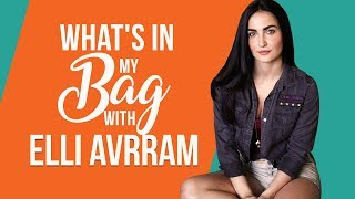 What's in my bag with Elli AvrRam   S01E07   Pinkvilla   Bollywood   Fashion   Lifestyle