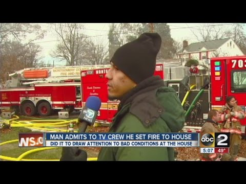Man admits to arson on live TV