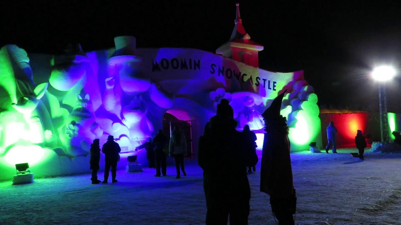 Muumin lumilinna<br /> avattiin Rovaniemellä