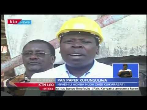 Rais Uhuru Kenyatta anatarajiwa kukifufua tena Pan-Paper mjini Webuye