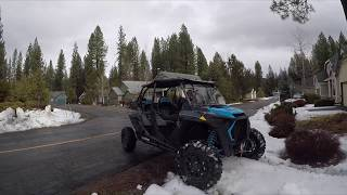 7. 2019 RZR XP4 Turbo in the Snow