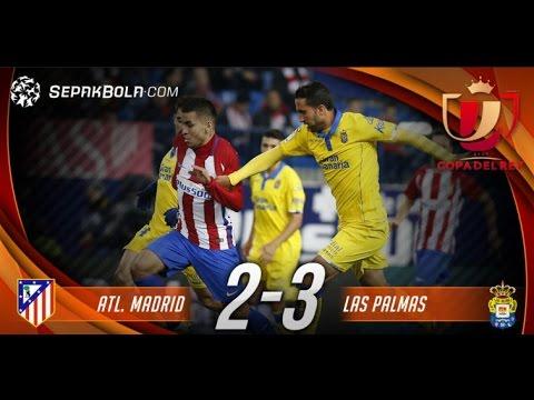 Atletico Madrid vs Las Palmas 2 - 3, All Goals and Highlight Copa Del Rey 10 January 2017