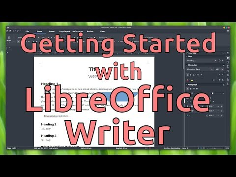 Getting Started with LibreOffice Writer