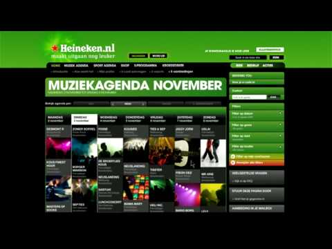 Boek privéconcert op Heineken.nl