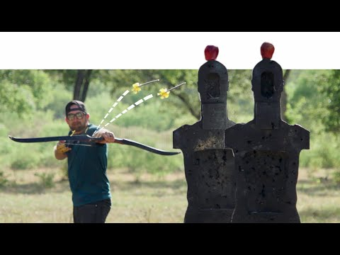 Dude Perfect Performs More Amazing Archery Trick