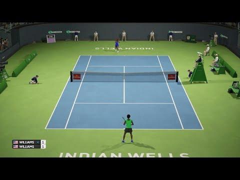 Venus Williams vs Serena Williams - BNP Paribas Open - AO Tennis PS4 Gameplay