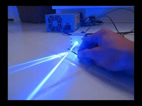1000mW BLUE Laser Burning Stuff! - 445nm @ 1W