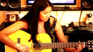 AC/DC - Back In Black - Acoustic Cover by Rebecca - Guitar Lessons