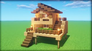 Minecraft Tutorial: How To Make A Ultimate Easy Wooden Starter Survival House