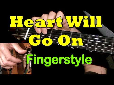 Heart Will Go On – Titanic, fingerstyle guitar lesson & TAB! Learn to play