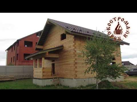 Двухэтажный дом из бруса для небольшой семьи