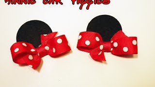 Minnie Mouse ears hair bow tutorial How to make Minnie ears DIY - YouTube