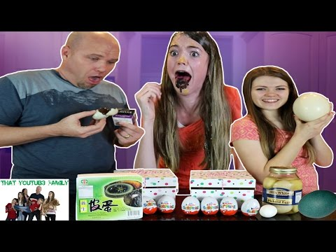 Real Egg VS Chocolate Egg Eat It or Wear It Switchup Challenge / That YouTub3 Family