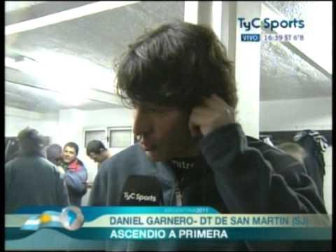 Daniel Garnero logra el ascenso de San Martín de San Juan
