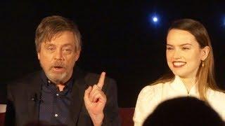 """Video """"Star Wars: The Last Jedi"""" FULL press conference with Mark Hamill, Daisy Ridley, Adam Driver, more MP3, 3GP, MP4, WEBM, AVI, FLV Desember 2017"""