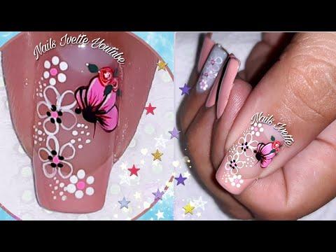 Decoracion de uñas - Diseño de uñas sencillo y delicado/decoración de uñas en tonos pasteles/Diseño para principiantes