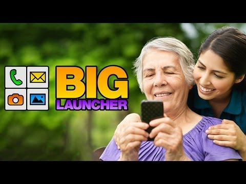 Video of BIG Launcher Easy Phone DEMO
