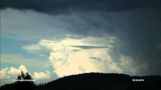 Gewitter Hohe Wand 09-08-2014 thunderstorm timelapse