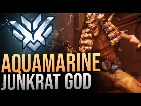 "Best Of  ""AQUAMARINE"" RANK 1 JUNKRAT - Overwatch Montage"