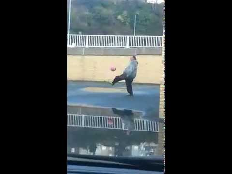Fat Man Got Mad Football Skills!