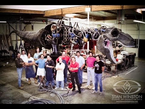 Animatronic - SUBSCRIBE to SWSCA on YouTube: http://bit.ly/Zp70T4 Building the Animatronic T-Rex for Jurassic Park (pt. 1) FULL STORY here: https://www.stanwinstonschool.c...
