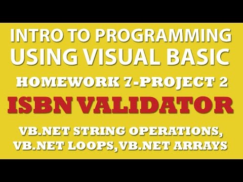 VB.net 7-pp2: ISBN Validator Using VB.net Strings Operations, Arrays, and Loops