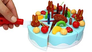 Video Toy Velcro Cutting Birthday Cake Playset Learn Fruits Wooden Velcro Toys Kinder Surprise Opening MP3, 3GP, MP4, WEBM, AVI, FLV Agustus 2017