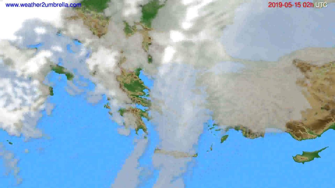 Cloud forecast Greece // modelrun: 00h UTC 2019-05-13