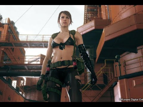 Metal Gear Solid V: The Phantom Pain Cutscene - Quiet Enters Mother Base