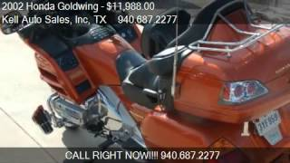 8. 2002 Honda Goldwing 1800 (ABS) for sale in Wichita Falls, TX