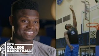 Zion Williamson's incredible vertical leap makes highlight dunks possible | College Basketball