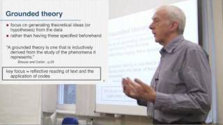 Grounded Theory - Core Elements. Part 1